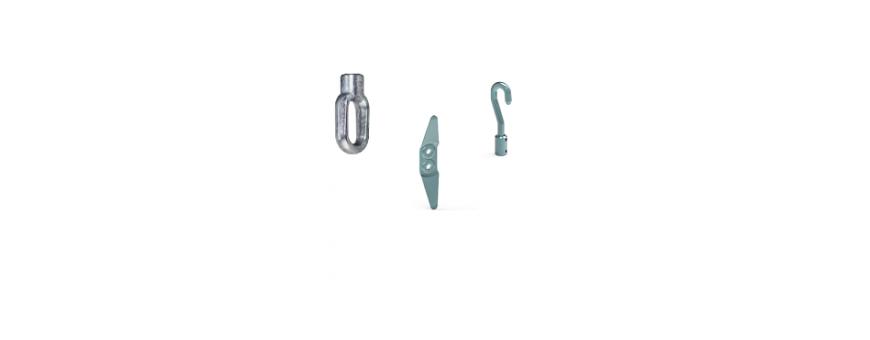 Crochet et anneau pour treuil de store banne,bannette,enrouleur ou moteur avec manœuvre de secours